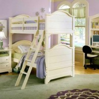 Cottage Creamy White Bunk Bed
