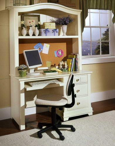 Cottage Creamy White Computer Desk