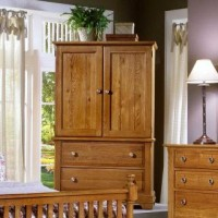 Cottage Oak Entertainment Armoire