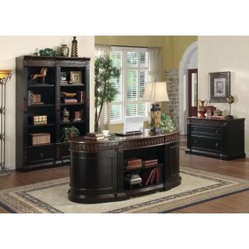 Two Tone Oval Desk - 800921