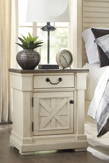 bolanburg antique white one drawer night stand night. Black Bedroom Furniture Sets. Home Design Ideas