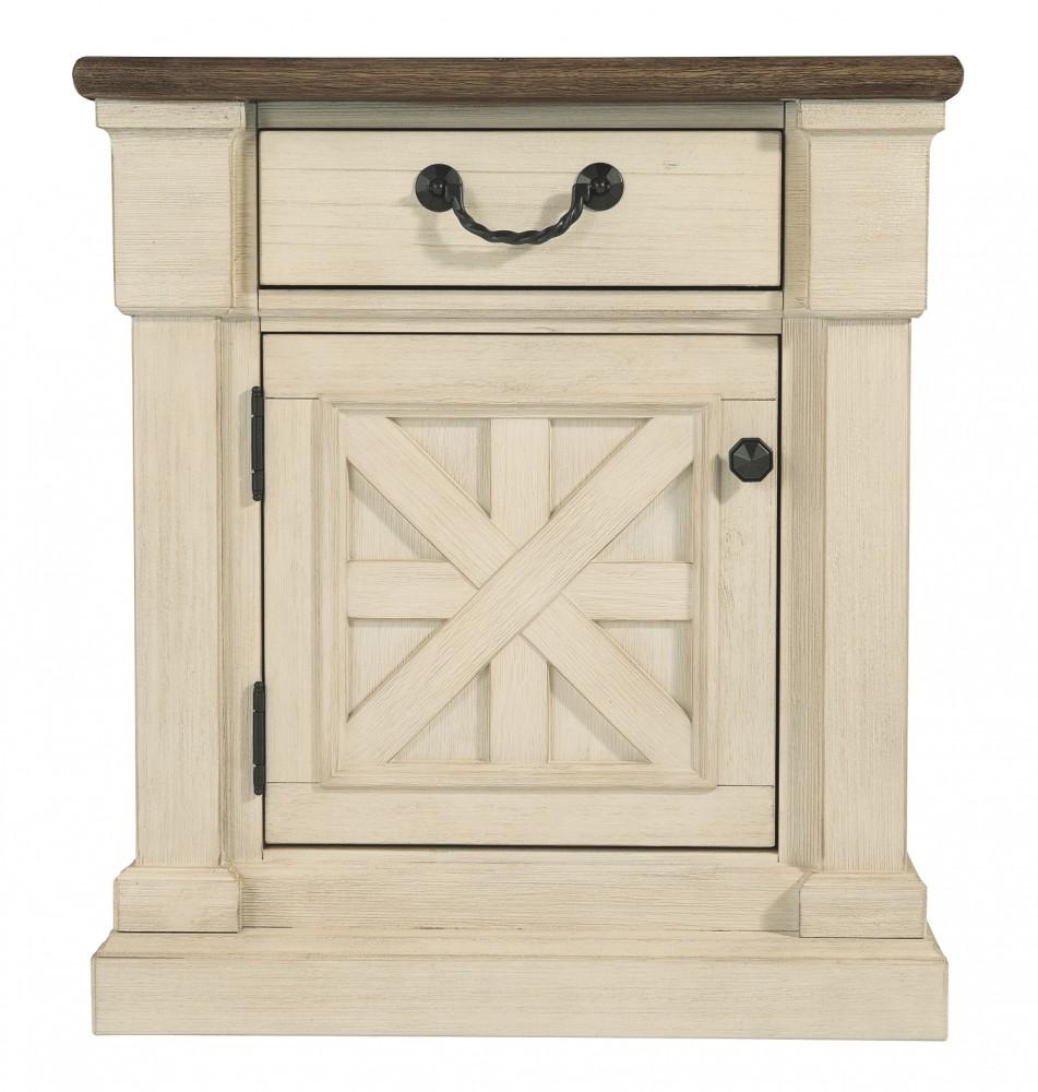 bolanburg antique white one drawer night stand b647. Black Bedroom Furniture Sets. Home Design Ideas