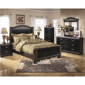 Constellations 5 Pc. Bedroom - Dresser, Mirror, Queen Poster Bed