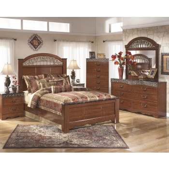 Fairbrooks Estate 5 Pc. Bedroom - Dresser, Mirror, Queen Poster Bed