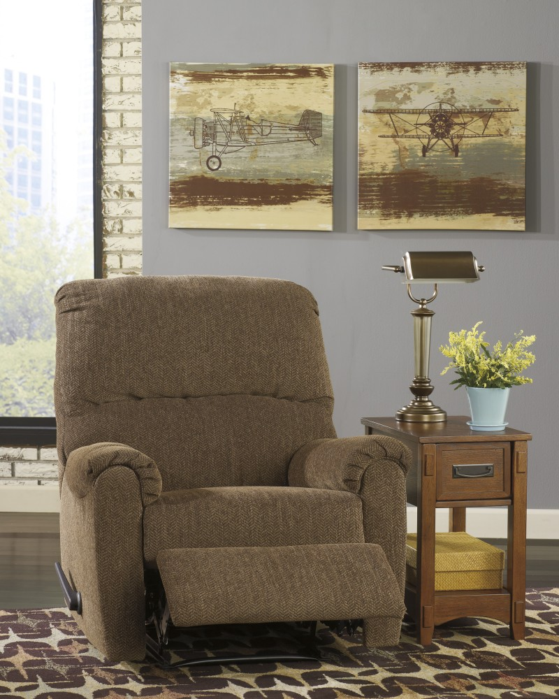 Pranit - Walnut - Zero Wall Recliner