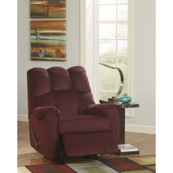 Raulo - Burgundy - Rocker Recliner