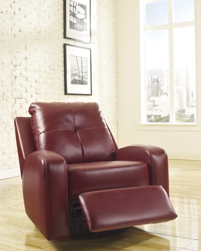 Mannix DuraBlend - Red - Swivel Glider Recliner