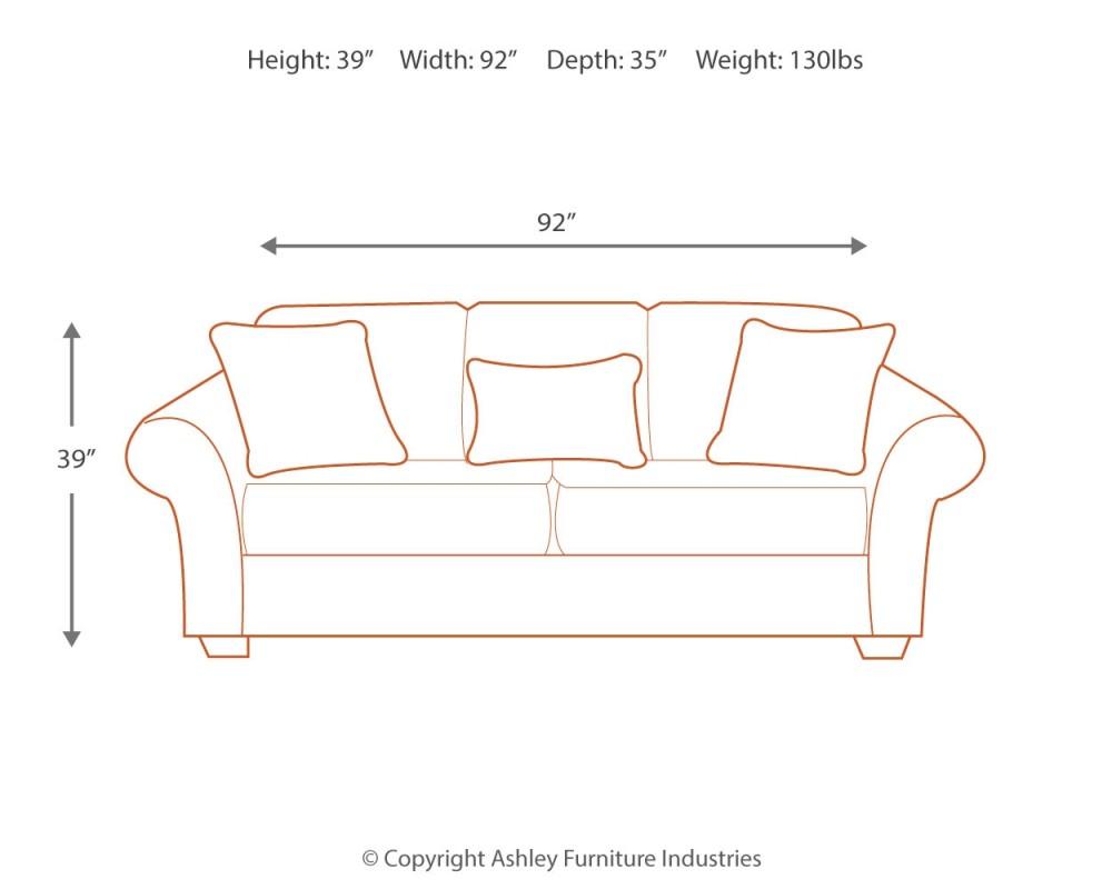 Makonnen Charcoal Sofa 7800038 Sofas Sims Furniture Galleries