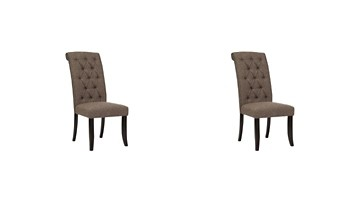 tripton dining uph side chair set of 2 d530 01 tripton medium brown dining uph side chair 2 cn 362