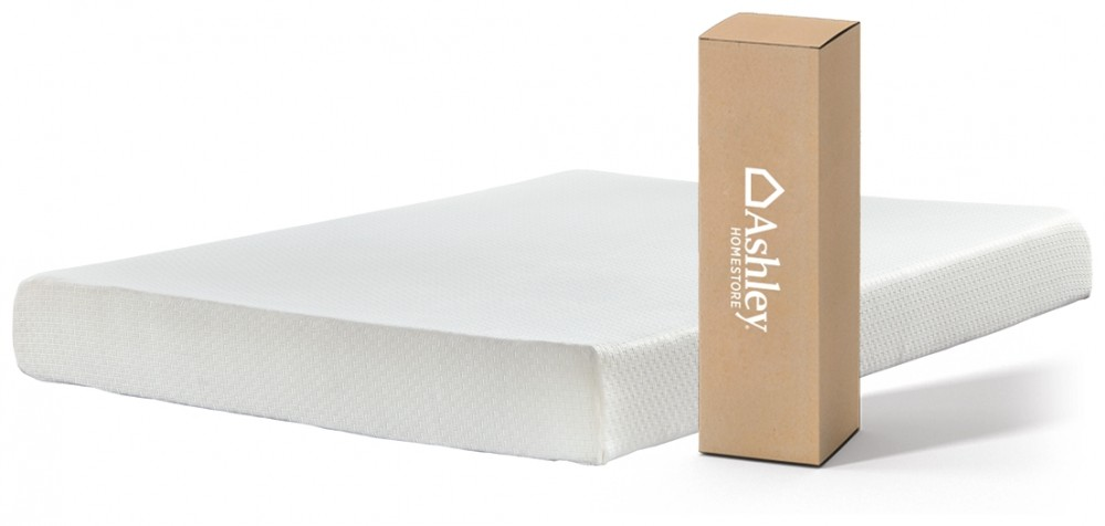 Chime 8 Inch Foam Mattress - White Twin | M72611 Memory Mattresses Price Busters Furniture