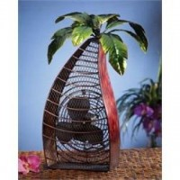 Deco Breeze Palm Tree Figurine Fan