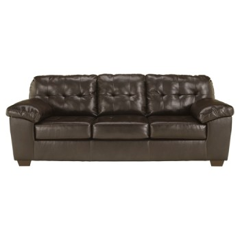 Alliston DuraBlend - Chocolate - Queen Sofa Sleeper