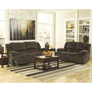Toletta - Chocolate - 2 Seat Reclining Sofa & Reclining Loveseat