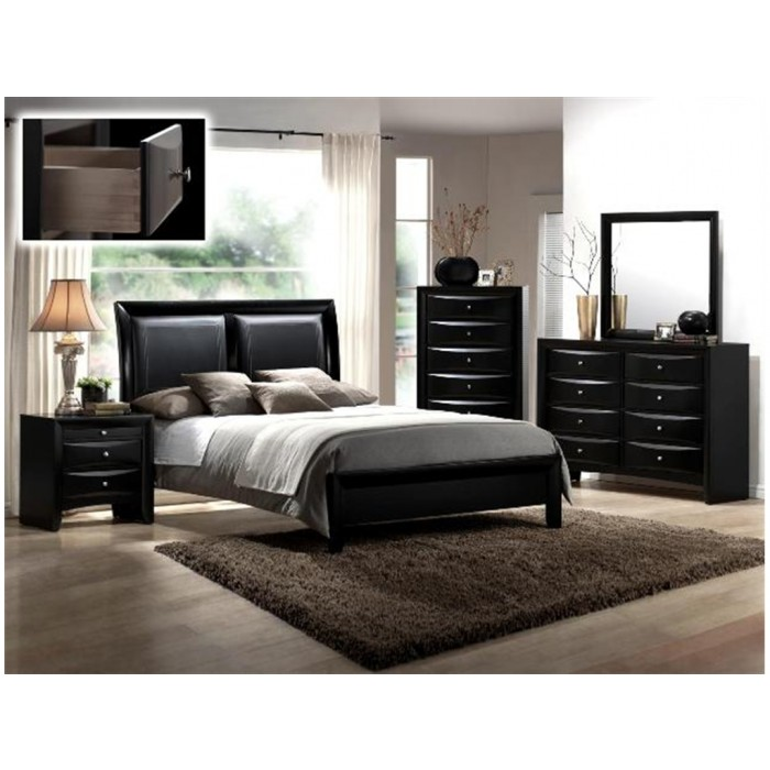 Wood Bedroom Group - Black