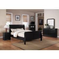 Louis Philip Black Bedroom Group