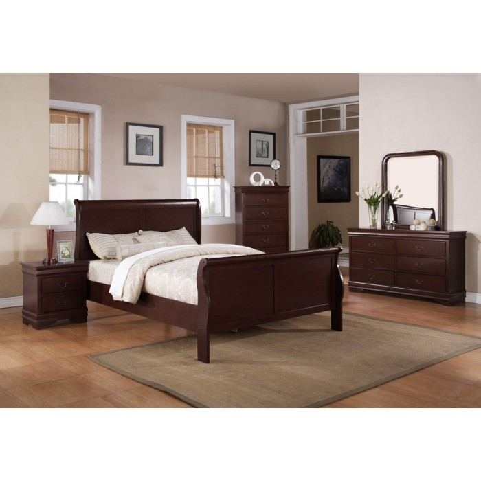 Louis Philip Cherry 9 Piece Bedroom Group