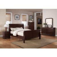 Louis Philip Cherry Bedroom Group