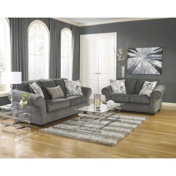 Makonnen - Charcoal - Sofa & Loveseat