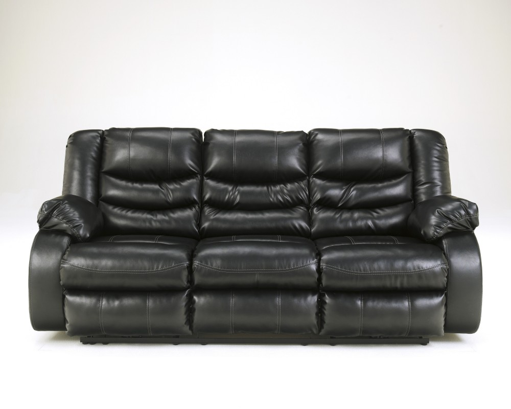Linebacker DuraBlend® - Black - Reclining Sofa