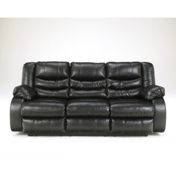 Linebacker DuraBlend® - Black - Reclining Sofa