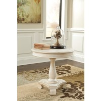Mirimyn White Round Accent Table