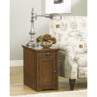 Power Chairside End Tables - Brown - Chair Side End Table