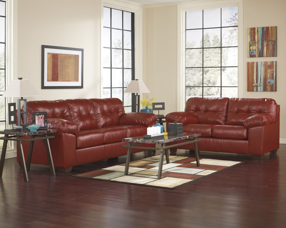 Alliston DuraBlend - Salsa Sofa & Loveseat