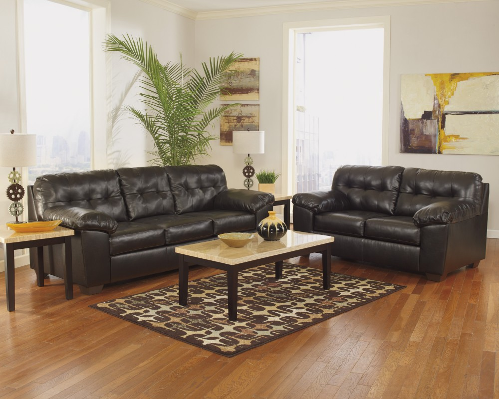 Alliston - Chocolate Sofa & Loveseat