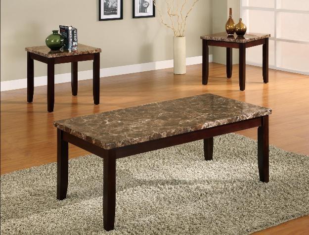 Crown Mark 4221 Ferrara 3pc Table Set 4221 Three Pack Table Sets