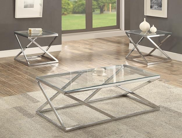 Crown Mark 3272 Chase 3pc Table Set