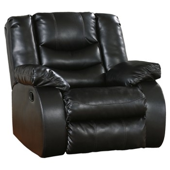 Linebacker DuraBlend - Black - Rocker Recliner