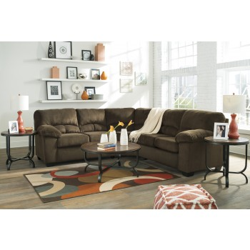 Dailey - Chocolate 2 Pc. Sectional