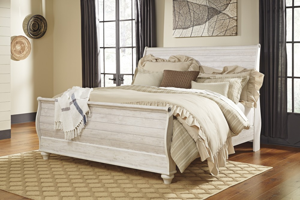 Willowton King Sleigh Bed | B267/78/76/97 | Complete Bed Sets ...