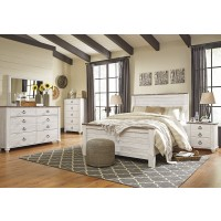 Willowton 5 Pc. Bedroom - Dresser, Mirror & Queen Panel Bed