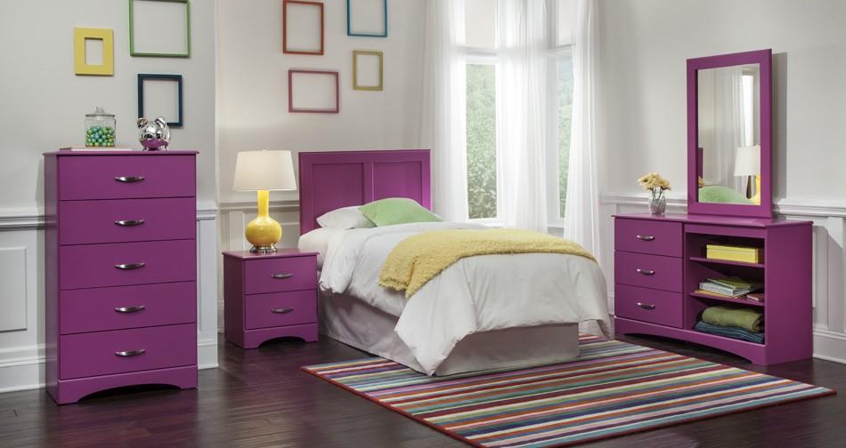 Raspberry Bedroom Group