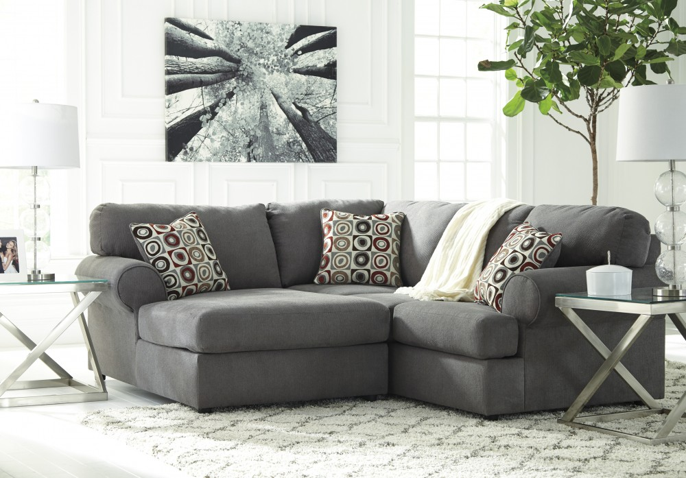 Jayceon - Steel 2 Pc. Corner Chaise Sectional - Price Busters