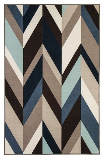 Keelia - Blue/Brown/Gray - Medium Rug