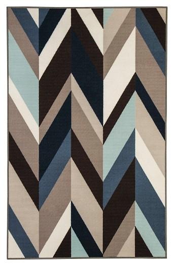 Keelia - Blue/Brown/Gray - Medium Rug
