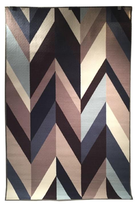 Keelia Blue Brown Gray Medium Rug R400482 Rugs