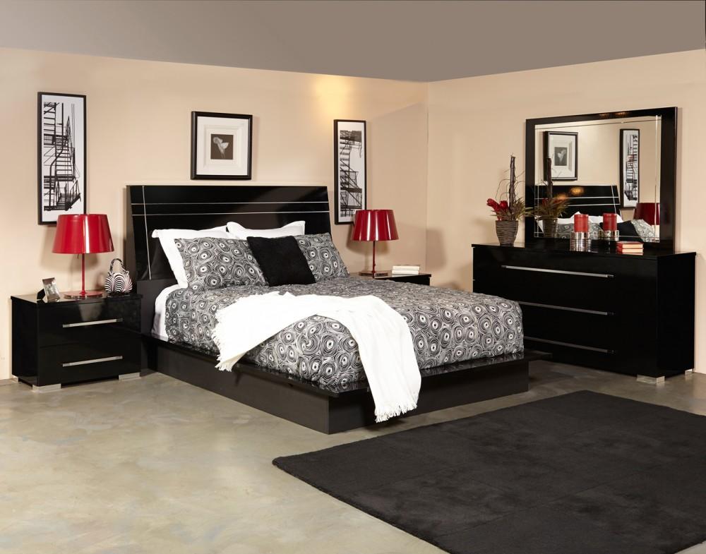 Dimora 5pc Bedroom Group Black | Dimorablk | Bedroom Sets | National ...
