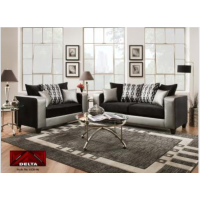 4120 Delta Silver and Black Living Room Group