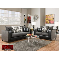 4120 Delta Charcoal and Black Living Room Group