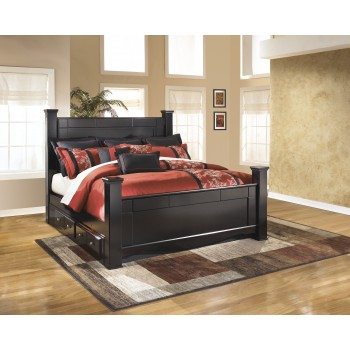 Shay King Poster Bed with Underbed Storage