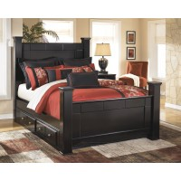 Shay Queen Poster Bed with Underbed Storage