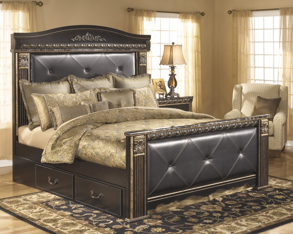 Coal Creek King Bed with Underbed Storage