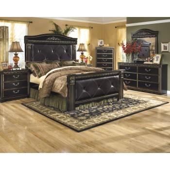 Coal Creek 6 Pc. Bedroom - Dresser, Mirror & Queen Mansion Bed
