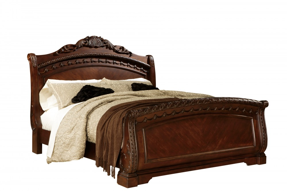 North Shore King Sleigh Bed B553 76 79 78 Complete Bed Sets