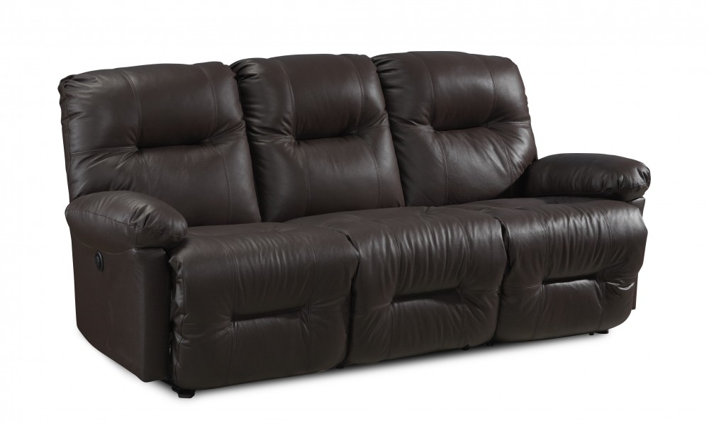 Zaynah Leather Reclining Sofa