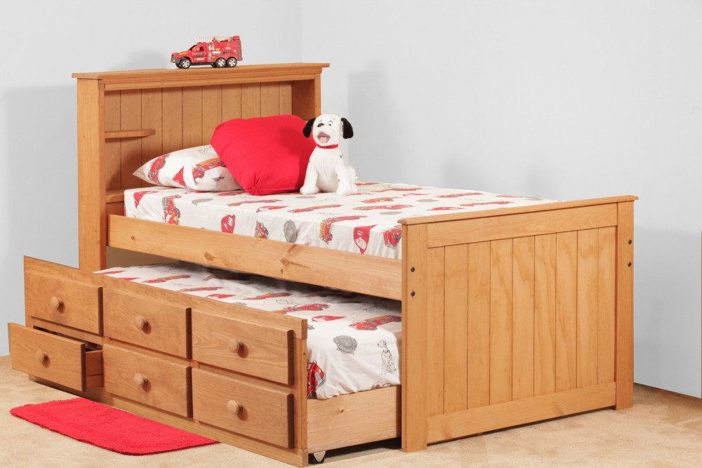 Twin Captain Trundle Bed