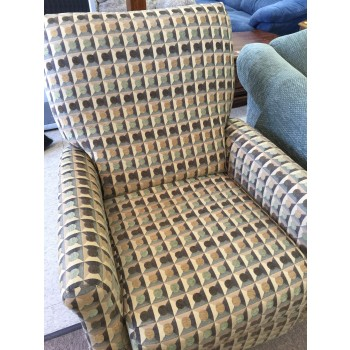 Green Pressback Stationary Chair